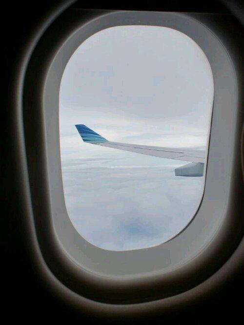 Sayap pesawat Garuda Indonesia