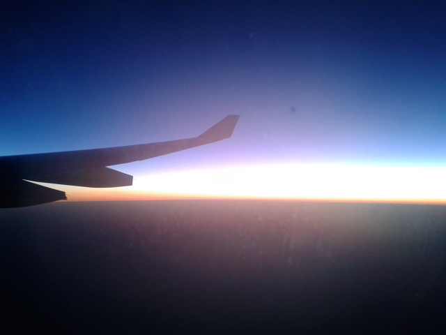 Sunset di atas langit Australia