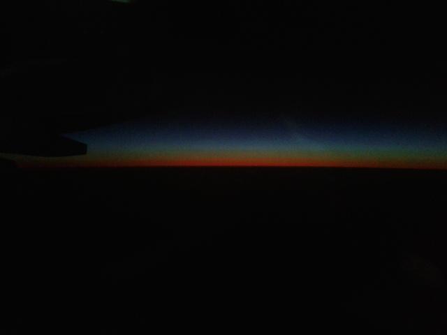 Sayap Pesawat Air Asia di langit Australia