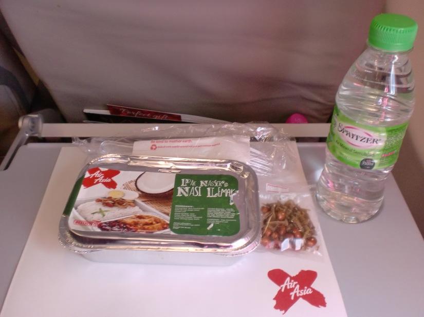 My dinner in Air Asia X (D7 212)