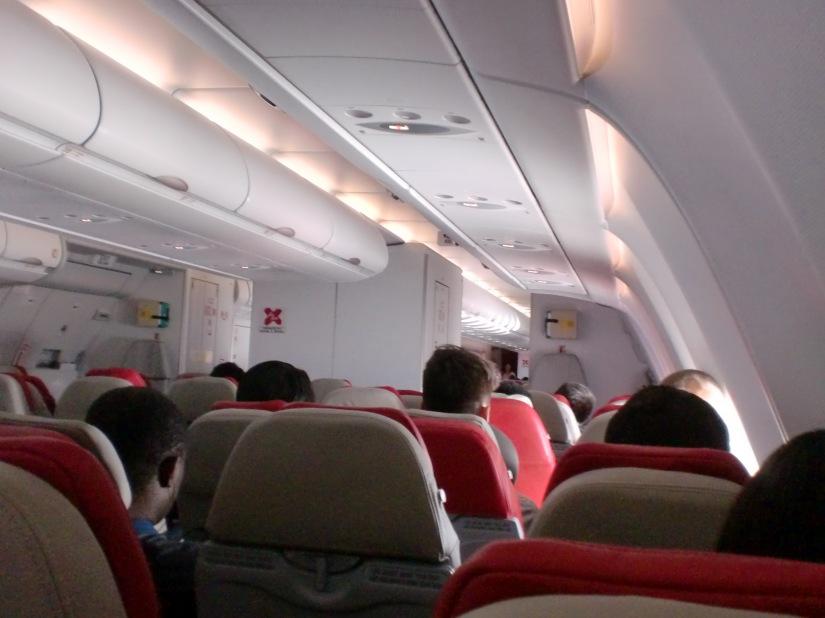 Di Pesawat dalam perjalanan menuji Melbourne