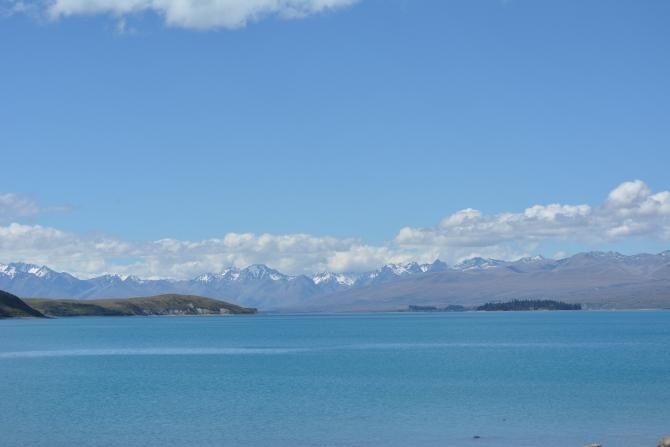 Mr Blue Sky and Turqoise Lake