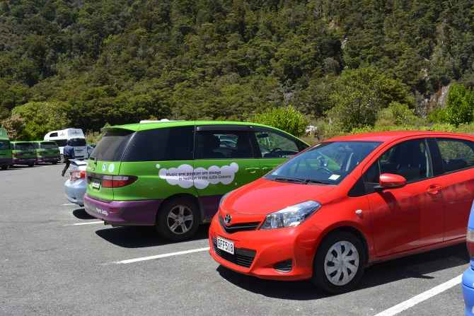 Carpark Milford Sound