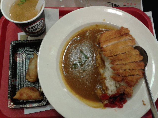 Chicken Katsu Curry bonus cemilan 2 biji :-D