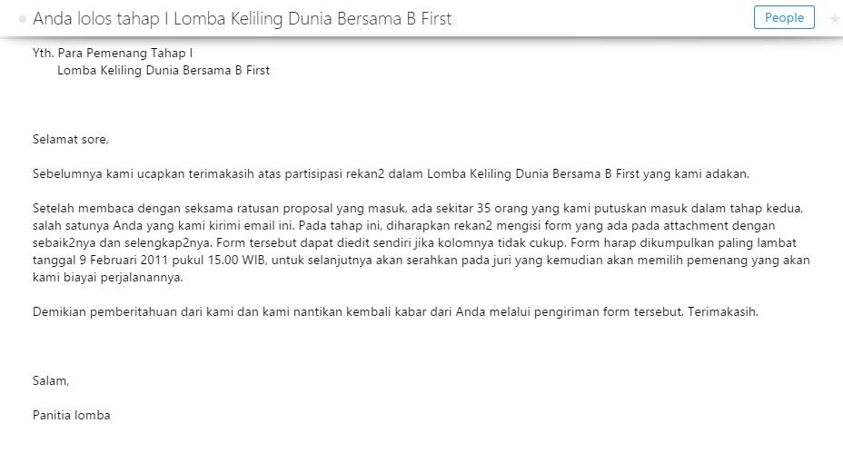 Email dari penerbit