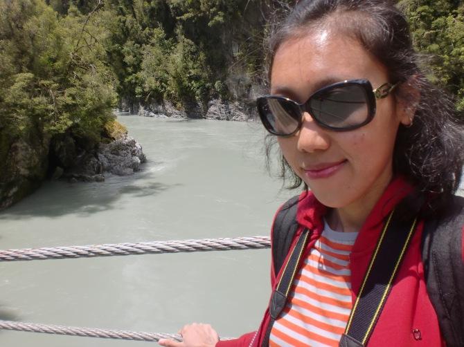 Selfie di Hokitika Gorge