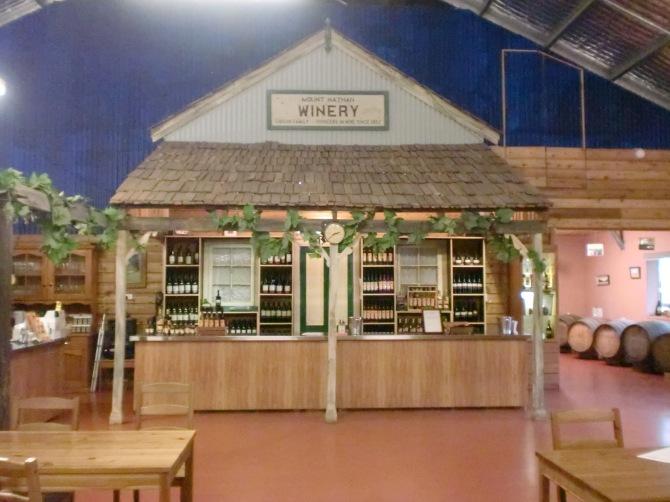 Tampilan dalam winery