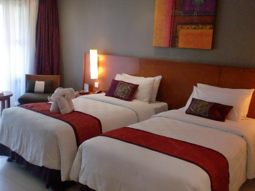 Kamar saya di salah satu resort di Bali, gratisan!