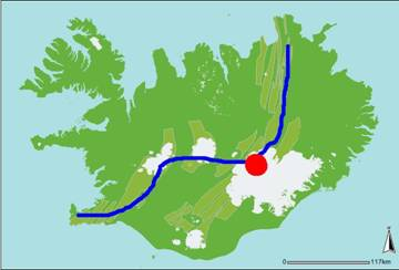 Lempeng tektonik Amerika Utara dan Eurasia yang membelah Islandia